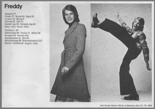 Freddie Burretti, costume, designer, modelling, David Bowie,