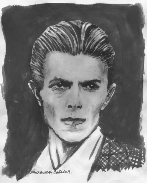 David Bowie, books, Unbound, Chris Sullivan, illustration
