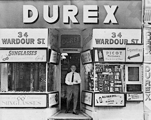 London, history, Durex, shop, Wardour Street,