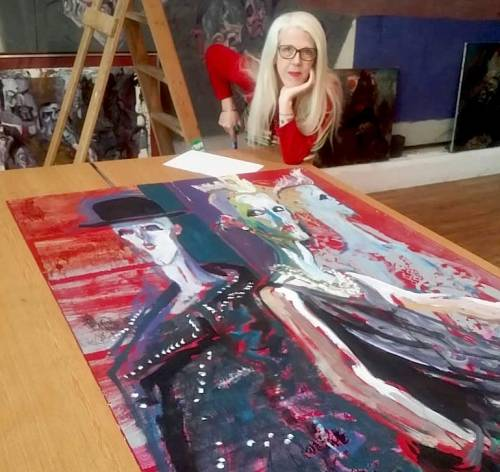 DuoVision , Scarlett Woman, Photography, painting, sculpture, exhibition, Swinging Eighties, The Gallery Liverpool,