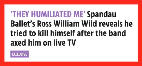 Sun Exclusive, Spandau Ballet, Ross William Wild,