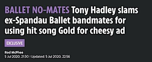 Tony Hadley , Martin Kemp, Gary Kemp, Rhys Thomas, BBC2, Spandau Ballet, mockumentary,
