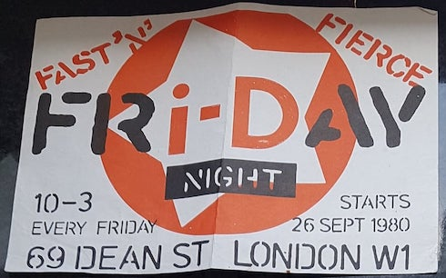i-D magazine, clubnight, 1980, flyer, London