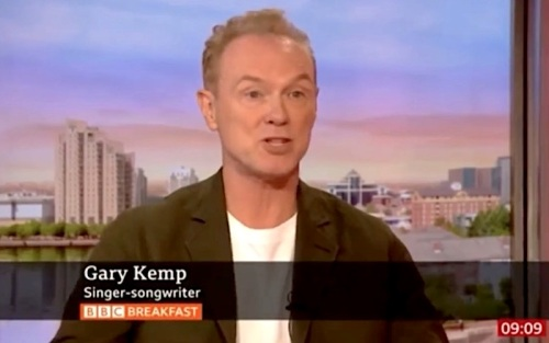 BBC Breakfast, interview Gary Kemp,