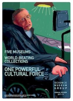 David Hockney, iPad, Stephen Hawking, portrait